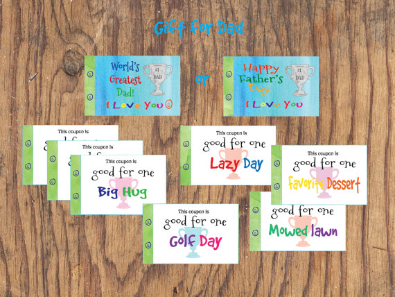 Dad Birthday gift or Fatheru0027s Day gift. by GrapevineDesignShop & Dad Birthday gift or Fatheru0027s Christmas gift. Love coupon book. 22 ...
