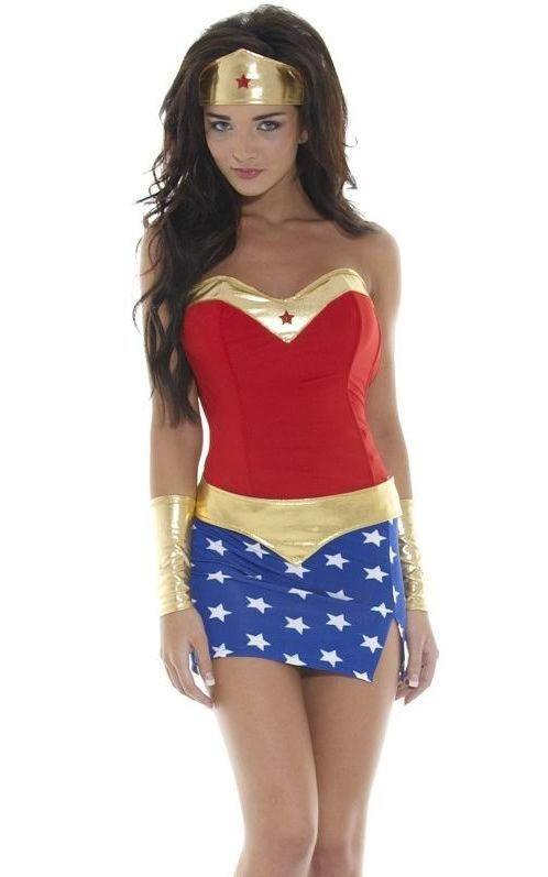 cba6a6d5db Sexy wonder vrouwen kostuum volwassen superheld cosplay halloween ...