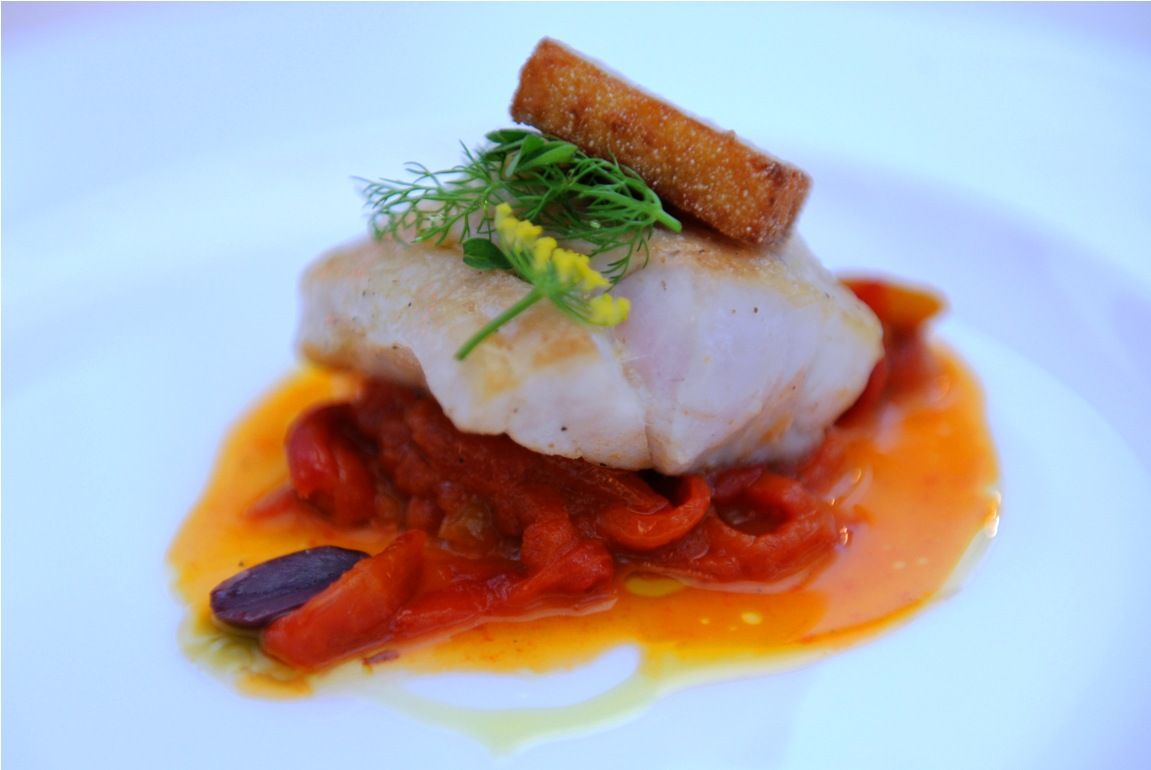 Line Caught White Fish Local Seasonal Garnish Dinner Time Seasonal Ingredients Culinary