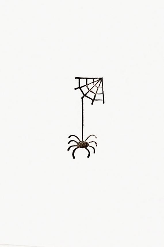 Spider stamp, handmade stamps, spider with web, Ha