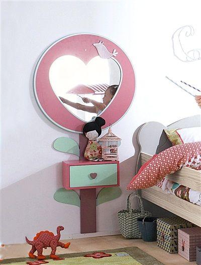 Vertbaudet Wandspiegel Fur Madchenzimmer In Rosa Kinder Zimmer Kinderzimmer Zimmer