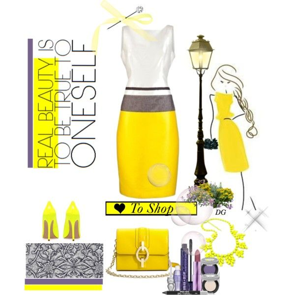 """""""yes yellow"""" by bodangela on Polyvore"""