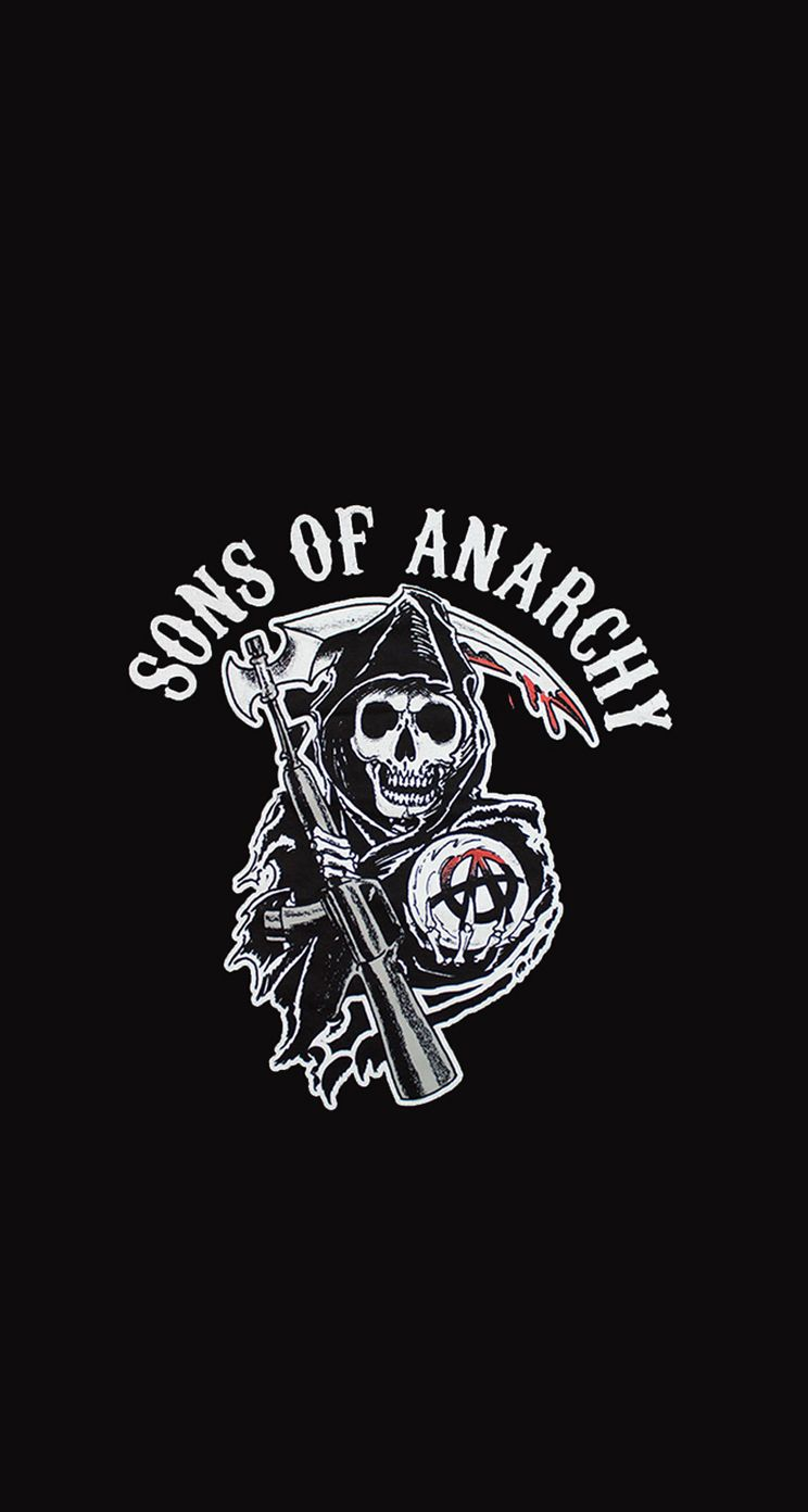 Sons of Anarchy Classic Reaper Black Adult Tank Top