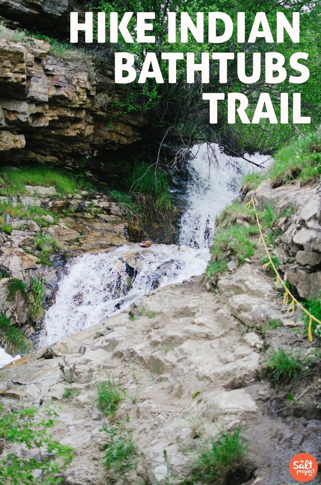Davis Creek Waterfalls & Indian Bathtubs Trails | Farmington | Adventurin' | The Salt Project | Things to do in Utah with kids
