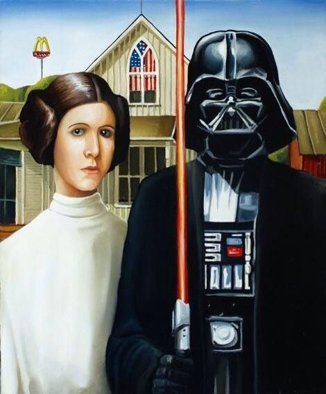 Star Wars Spoof On Grant Woods American Gothic