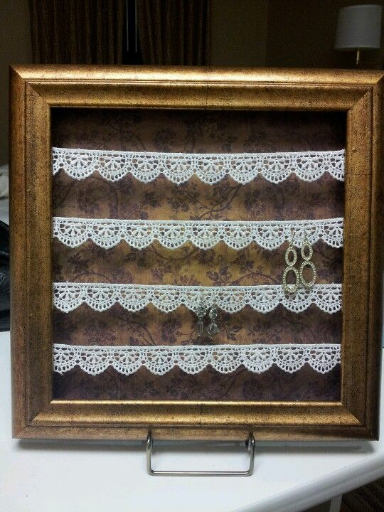 Diy Jewelry Holder Frame 5 8 Each Deeply Set Frame Durable Lace