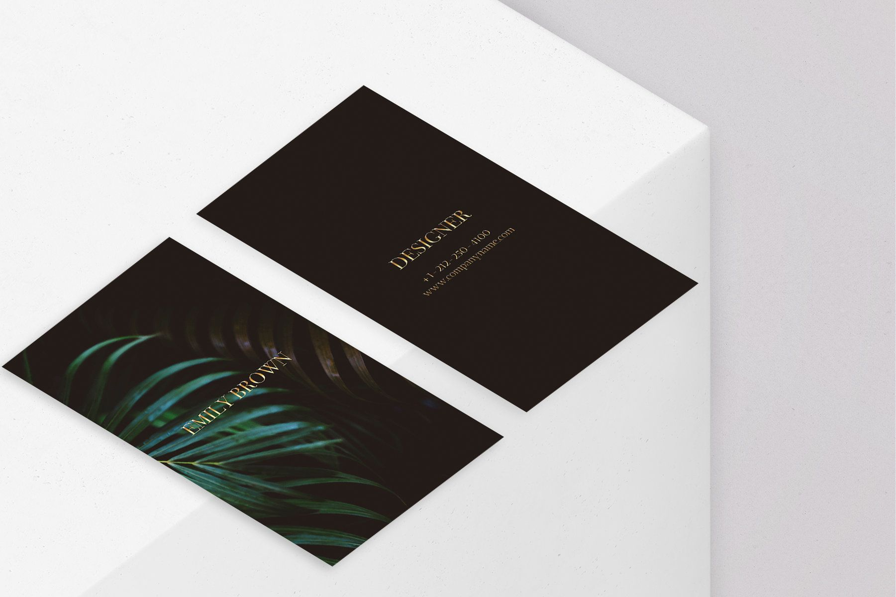 Canva Classy Black Gold Green Business Card Template Etsy In 2021 Business Cards Creative Gold Business Card Black Business Card