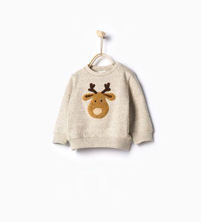 Image 1 of Reindeer sweatshirt from Zara | Fashion kids ...