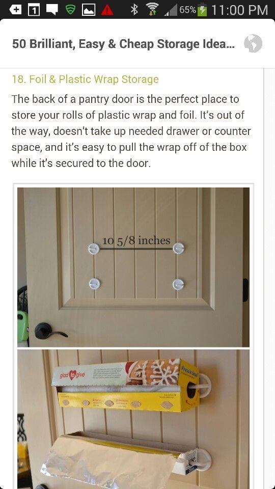 Foil and plastic wrap dispenser | Kitchen hacks ...