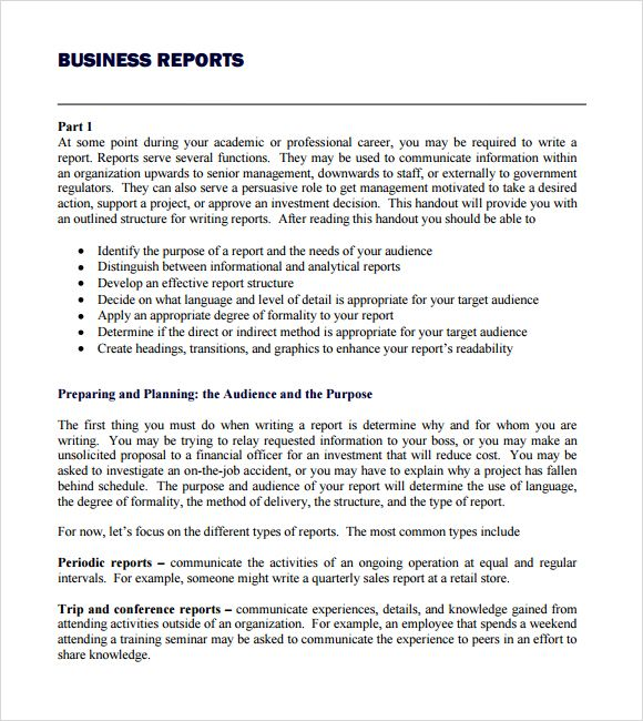 Business Report Template Writing Word Excel Format For Pokemon
