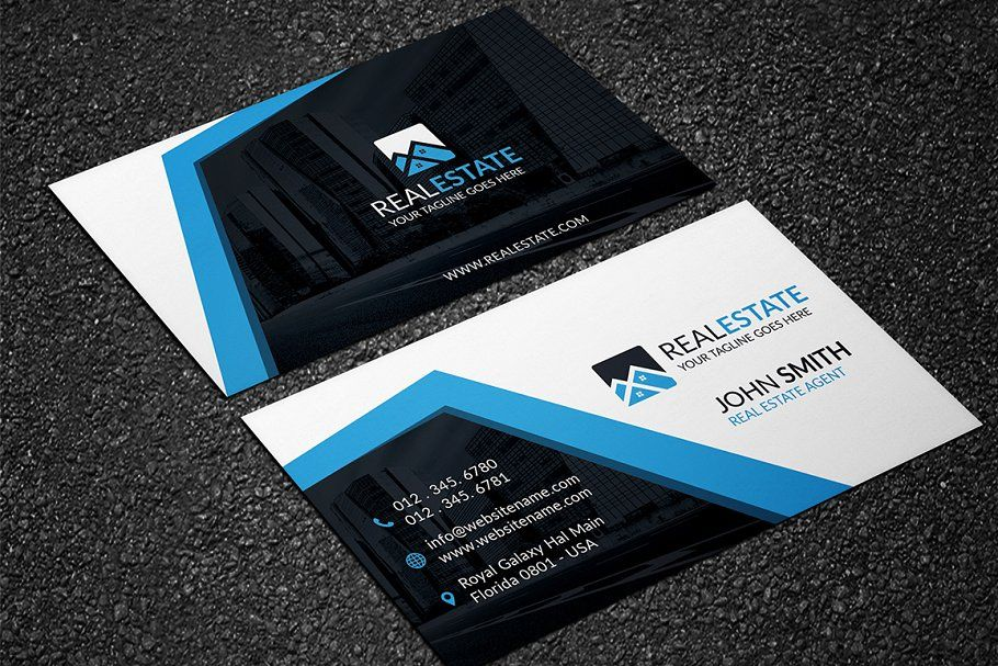 Modern Real Estate Business Card In 2020 Real Estate Business Cards Real Estate Business Business Cards Creative