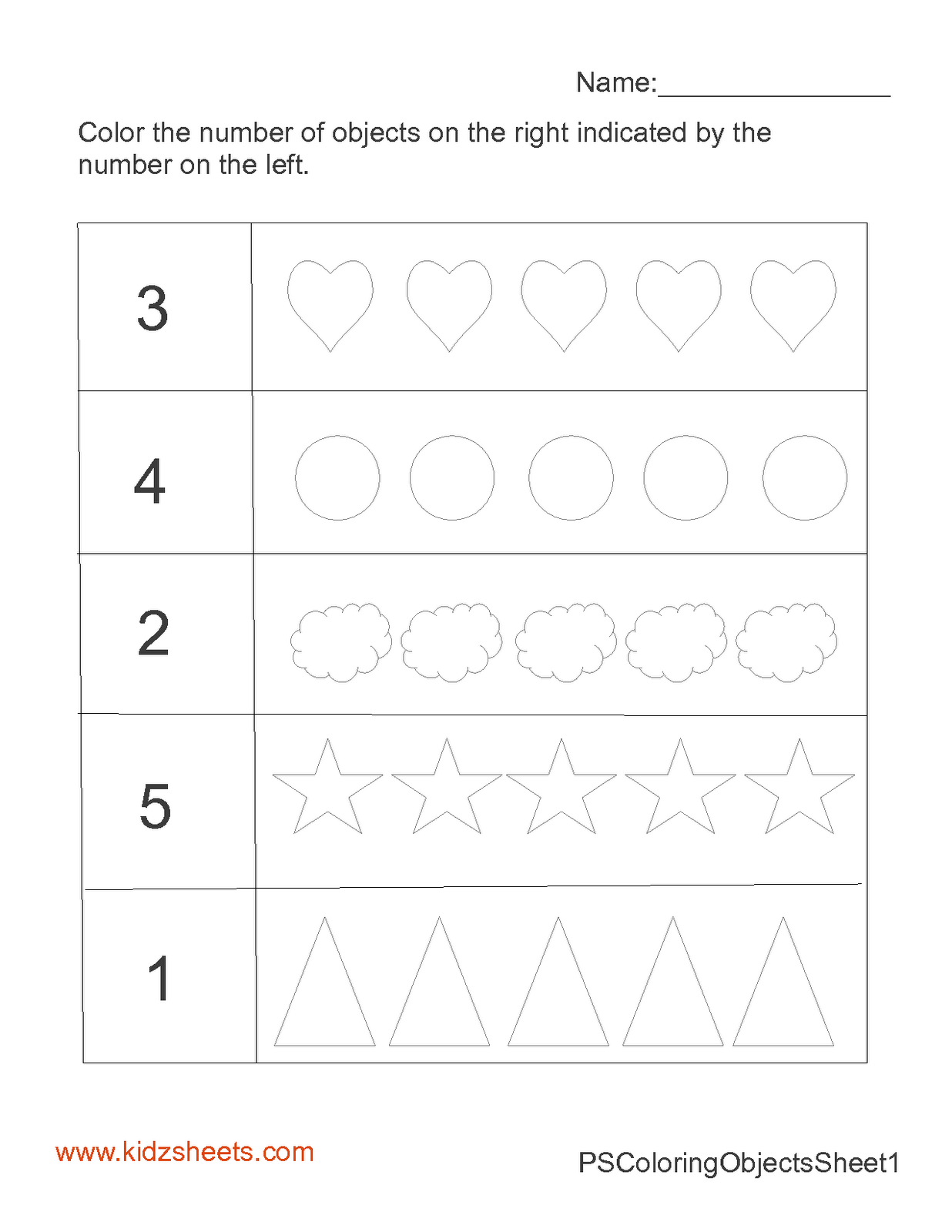 Preschool Math Worksheet Worksheets With Images