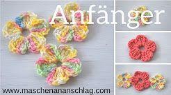 Erdbeerdiamant Rose Häkeln Youtube Häkeln Crochet Pinterest