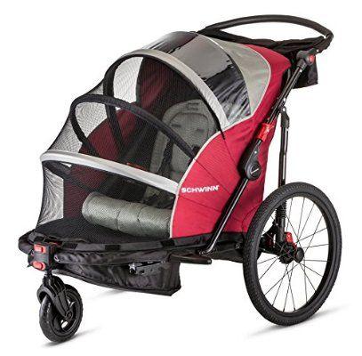 Schwinn Joyrider Double Bicycle Trailer Baby Bike Trailer Child