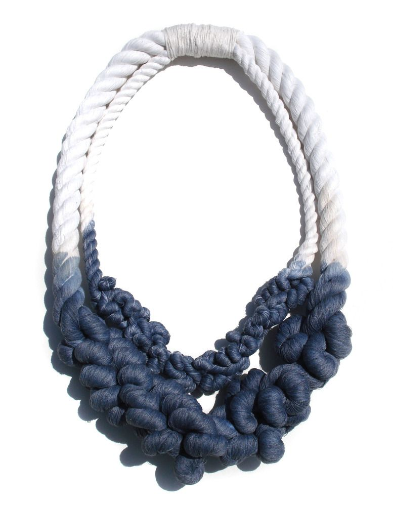 Unraveled Cotton Rope Necklace-DBL