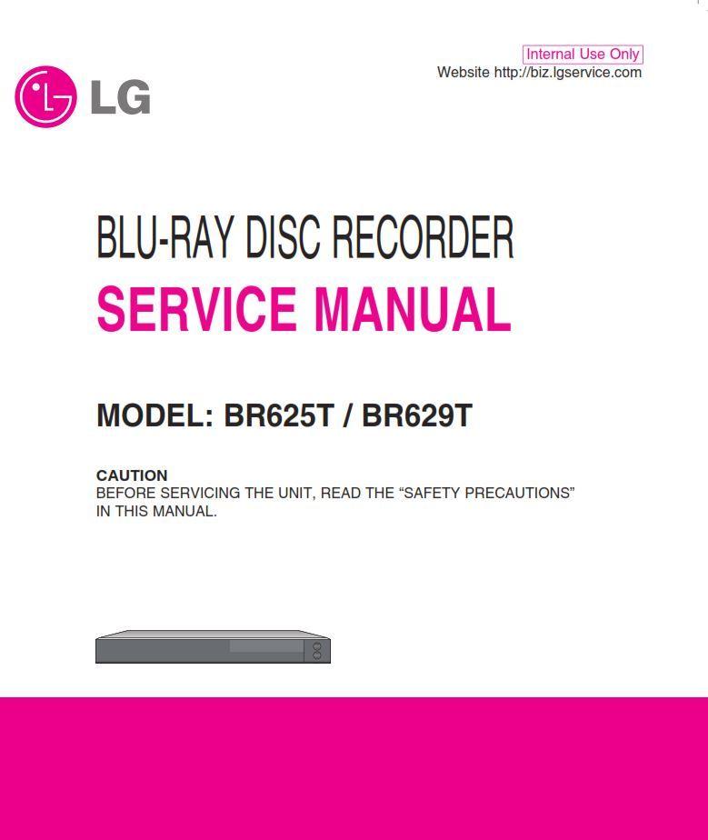 Lg Br625t Br629t Blu Ray Recorder Service Manual Blu Ray Blu Manual