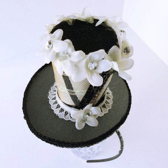 Neutral Missoni Fabric Daisy Small Top Hat by LOVEmadeHATS on Etsy, $25.00
