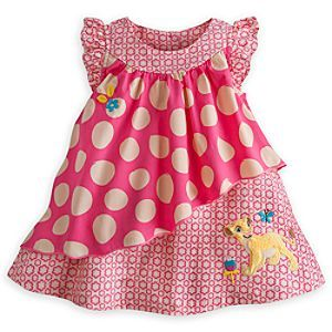 Disney Nala Woven Dress Set for Baby | Disney StoreNala Woven Dress Set for Baby - As Nala wanders the Pride Lands, there's nothing plain about this woven dress set. The asymetrical dress features a plush Nala appliqu� on a floral print fabric with a top layer of polka dots cut on the bias.