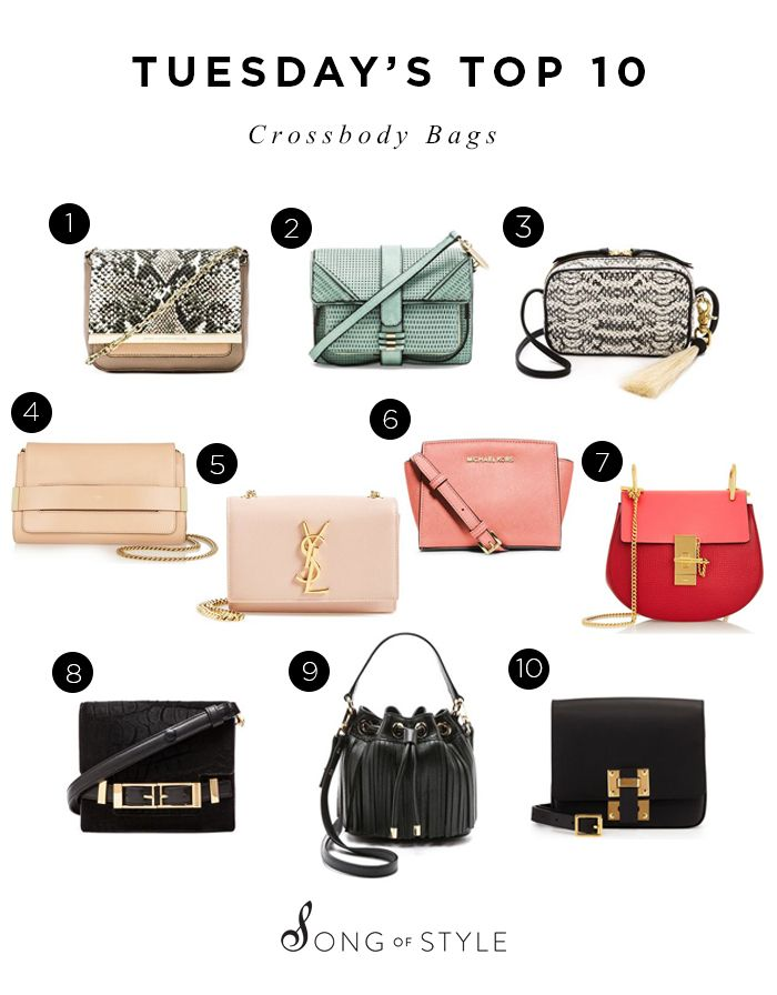 de50a7409d9 Tuesday's Top 10 Crossbody Bags | Song of Style | Bags, Crossbody ...