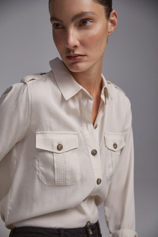 Rebajas En Blusas De Mujer Pedro Del Hierro Blusas Blusas Camiseras Camisa De Moda