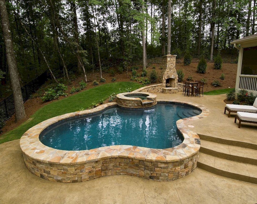 Best 25 Beautiful Small Outdoor Inground Pools Small Inground Swimming Pools Small Inground Pool Small Swimming Pools