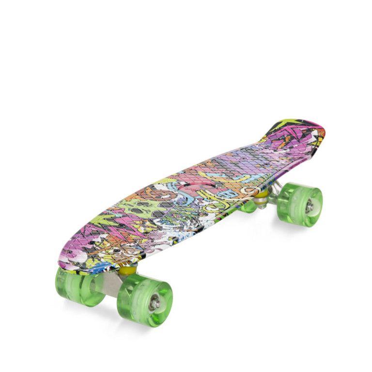 Deskorolka Fiszka Movino Graffiti Led Wzor5 Skateboard Skate Surf Surfs
