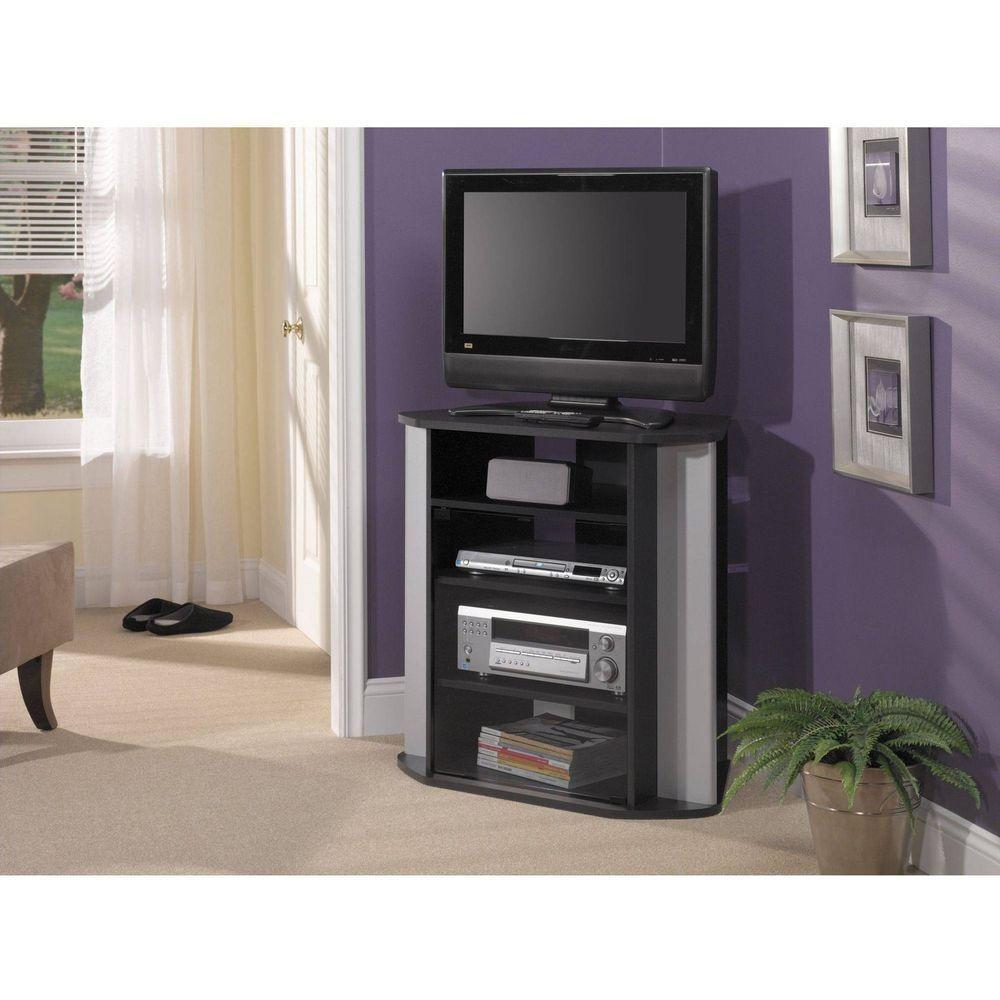 best service 6ec1d c9f94 TV Corner Stand Entertainment High Tall Grade Board PVC ...