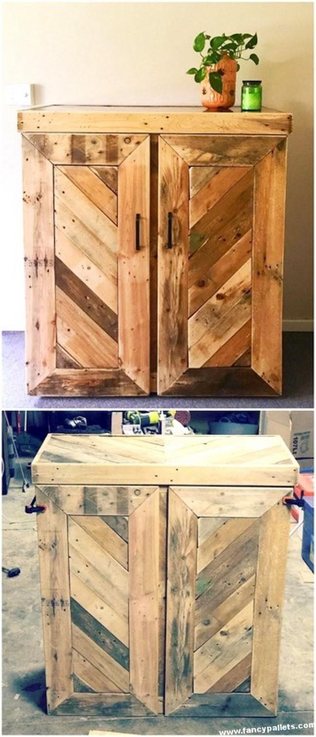 Pallet Cabinet #Palletfurniture   Pallet cabinet, Wood ...