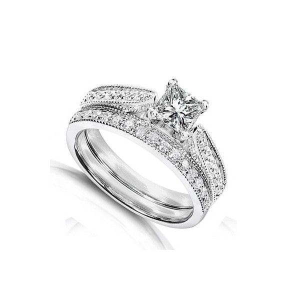 Inexpensive Wedding Rings Sets | Home U003e Wedding Sets U003e Inexpensive Antique Diamond  Wedding Ring Set