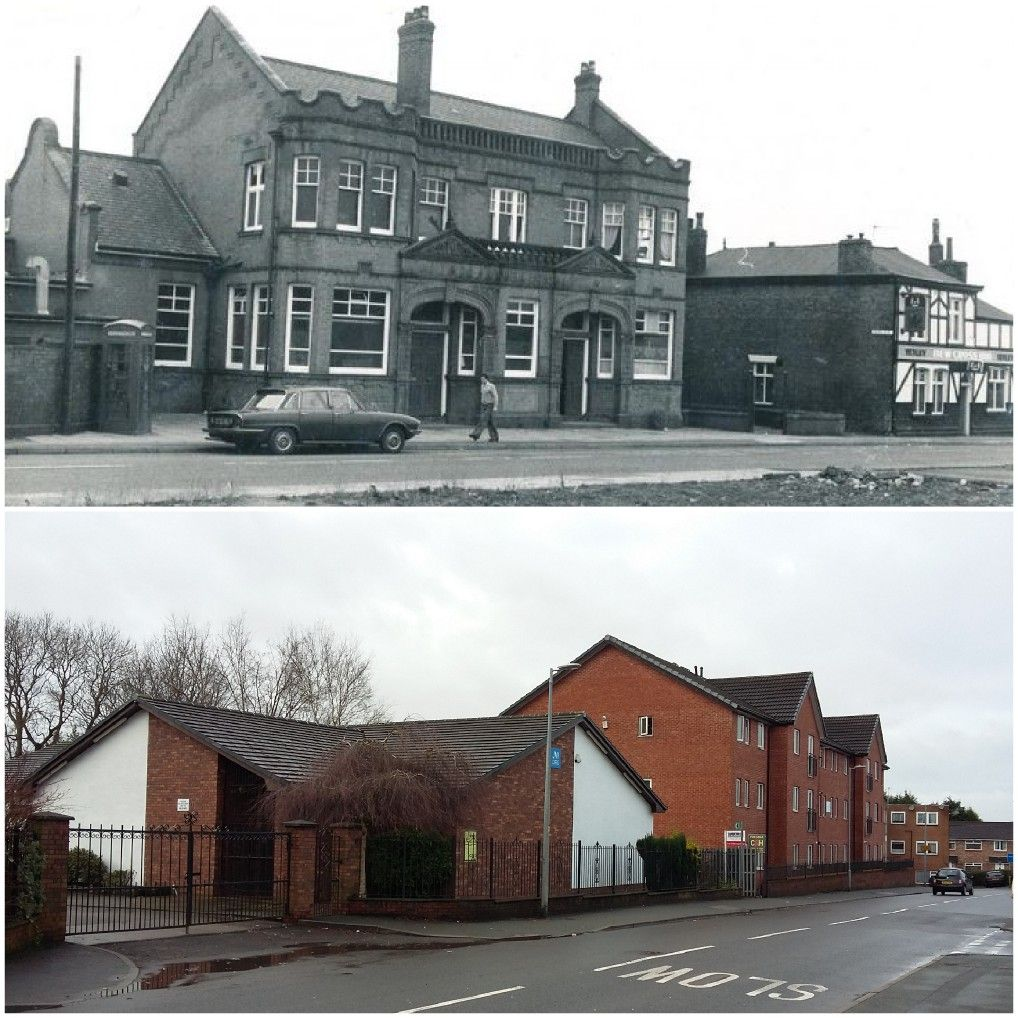 Before And After Shots Swinton Baths And Halligans 1970 S And The Jehovah S Witnesses Hall And Flats 2018 Salford Clifton Old Pictures