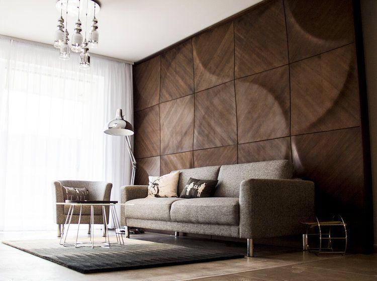 3d Wandpaneele Wandverkleidung Holz Edel Wohnzimmer Sofa Ideen