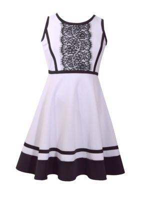 294ebb3d5fb Bonnie Jean Lace front Scuba Dress Girls 7-16 | Products | Dresses ...