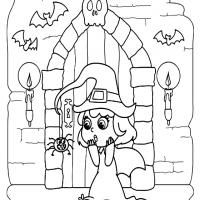 A Witchy Halloween Coloring Sheet Halloween Coloring Sheets Coloring Sheets Halloween Coloring
