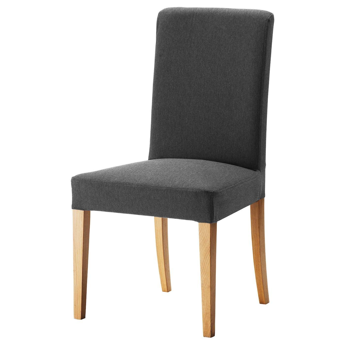 HENRIKSDAL Chair, Dansbo dark grey, Width 51 cm in 2020