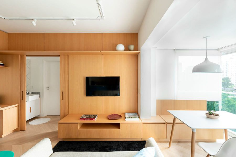 Tudo Em 38m2 Com Imagens Apartamentos Pequenos Decorando