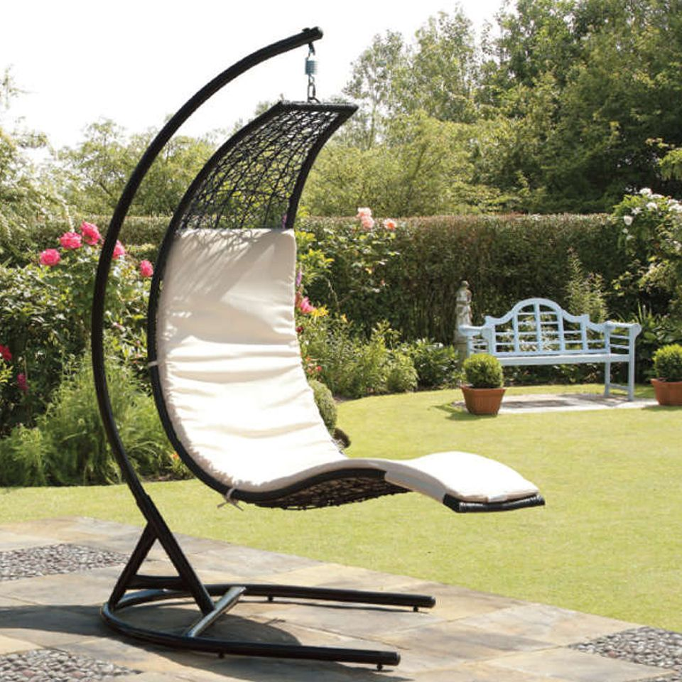 covered patio swing suntime curve rattan garden swing seat ebay