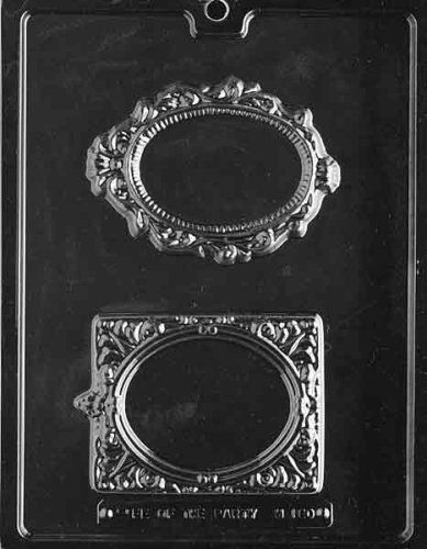 7566368c7a1dec Cybrtrayd M180 Fancy Frames Chocolate Candy Mold with Exclusive Cybrtrayd  Copyrighted Chocolate Molding Instructions