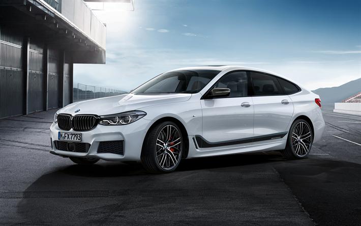 Download Wallpapers BMW 6 Gran Turismo 2018 Series White German Cars New