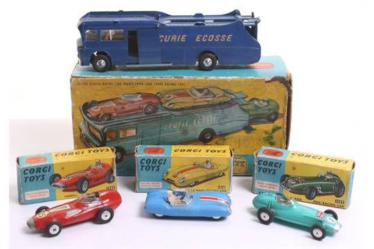Lot 144 - Corgi Toys Major Gift Set 16 Ecurie Ecosse Racing Car Transporter,1126 Transporter,dark blue, yellow
