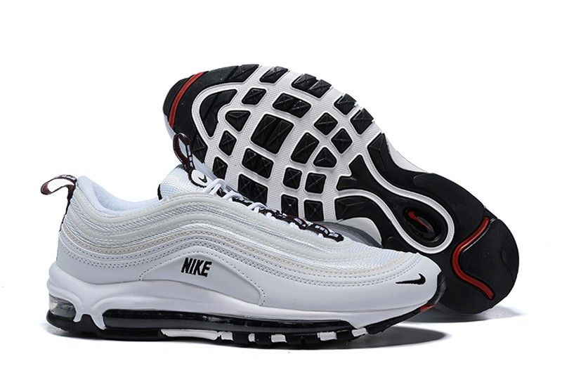 best service ff05e b77fd New This Year Nike Air Max 97 Premium Men s White Black Sports Life Shoes  In Stock 312834-100