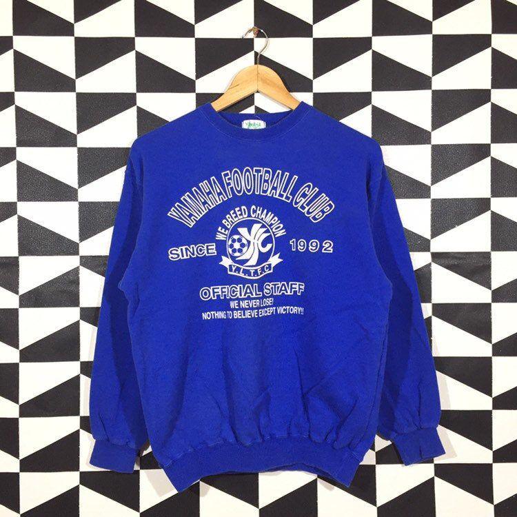 Vintage 90s Yamaha Spellout Printed Sweatshirt Crewneck Yamaha Pullover Jumper Yamaha Blue Colour M Size Printed Sweatshirts Sweatshirts Vintage Sweatshirt