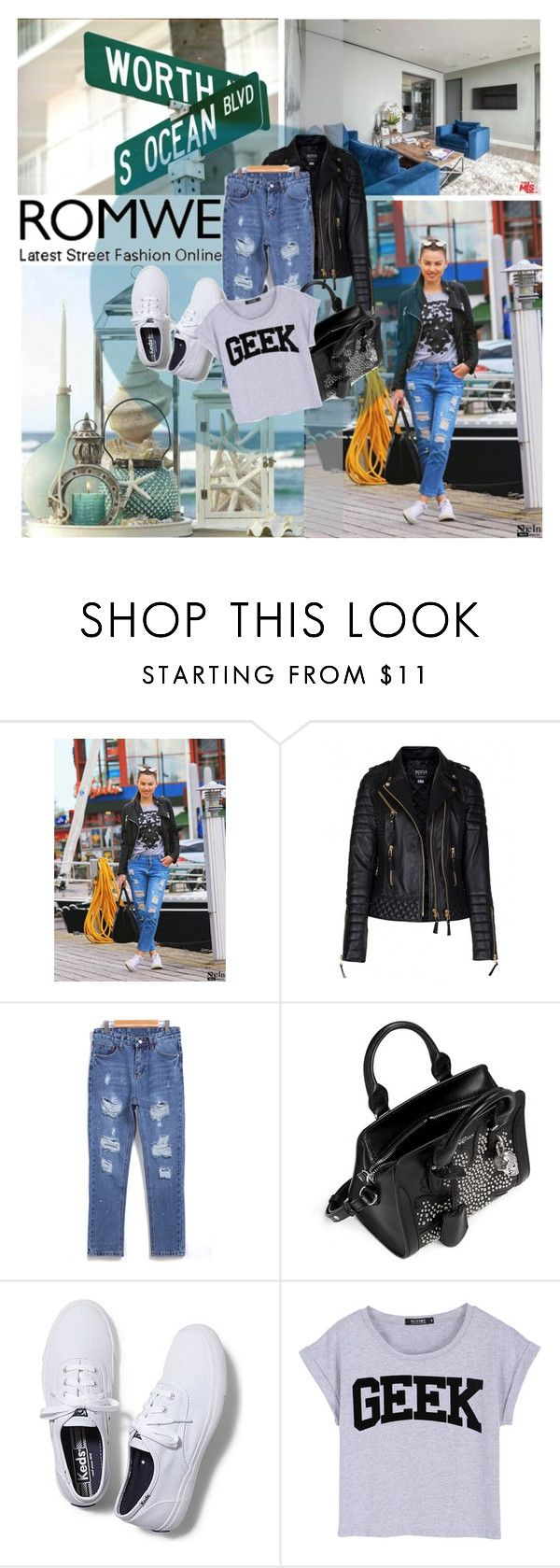 """""""Romwe 9/5"""" by pinki1994 ❤ liked on Polyvore featuring Alexander McQueen, Keds and romwe"""