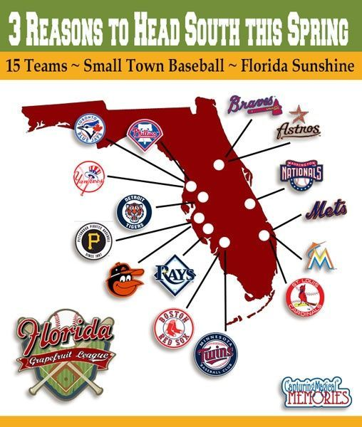 Grapefruit League Baseball - 3 Reasons to Head South and Map of ...