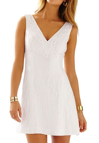 d86dbb4e5a9a23 Lilly Pulitzer Brynn Iridescent Fit & Flare in Resort White | live a ...