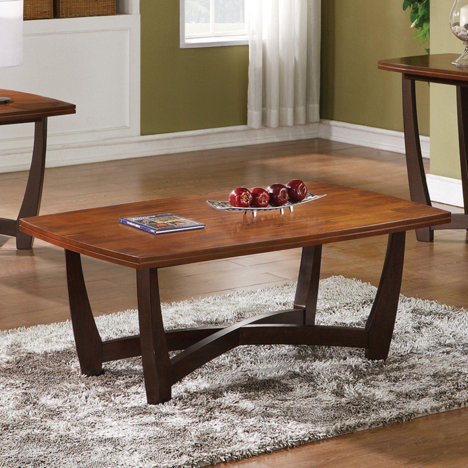 Steve Silver Kenzo Rectangle Cherry Wood Coffee Table Cherry