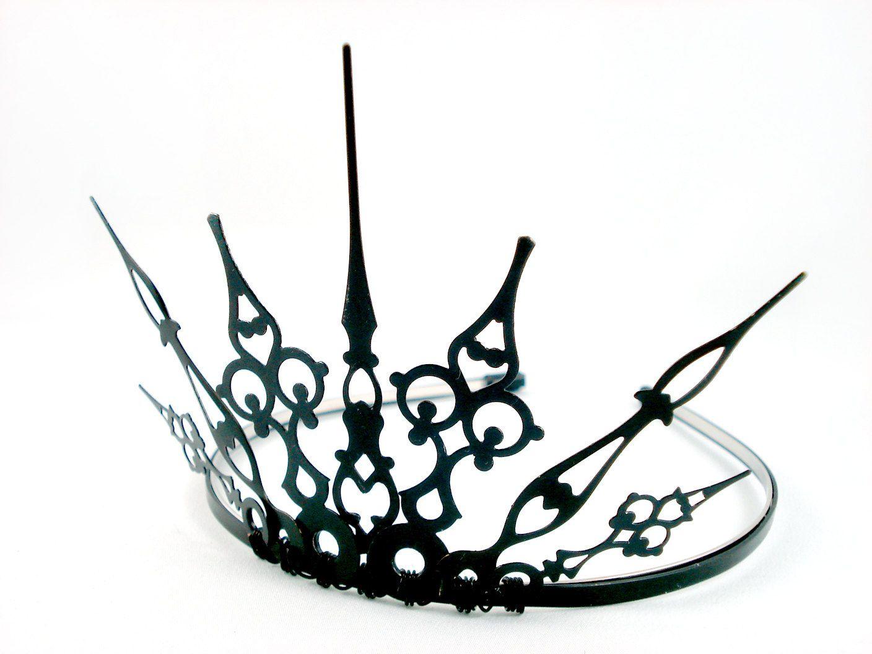 gothique 20 simple black filigree gothic tiara made