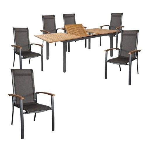 Hartman Alice/South Wales Sitzgruppe Stapel 7tlg Tisch 150/210cm ...