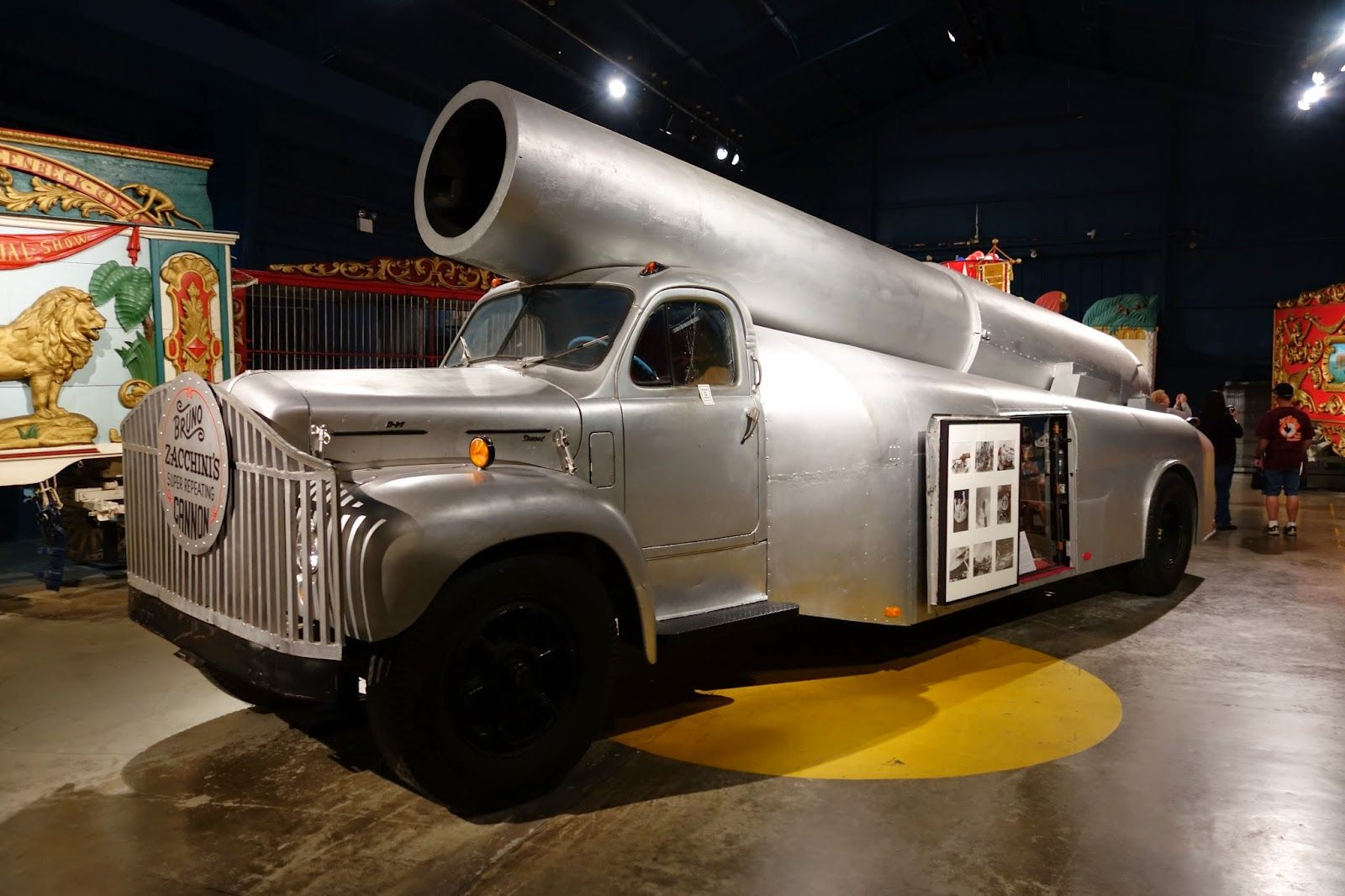 Bruno Zacchini's superrepeating cannon, mounted on a Mack