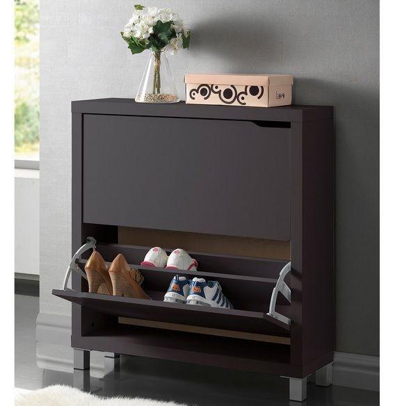 Storage Shoe Furniture Organizer 12 Pair Cabinet Organizer