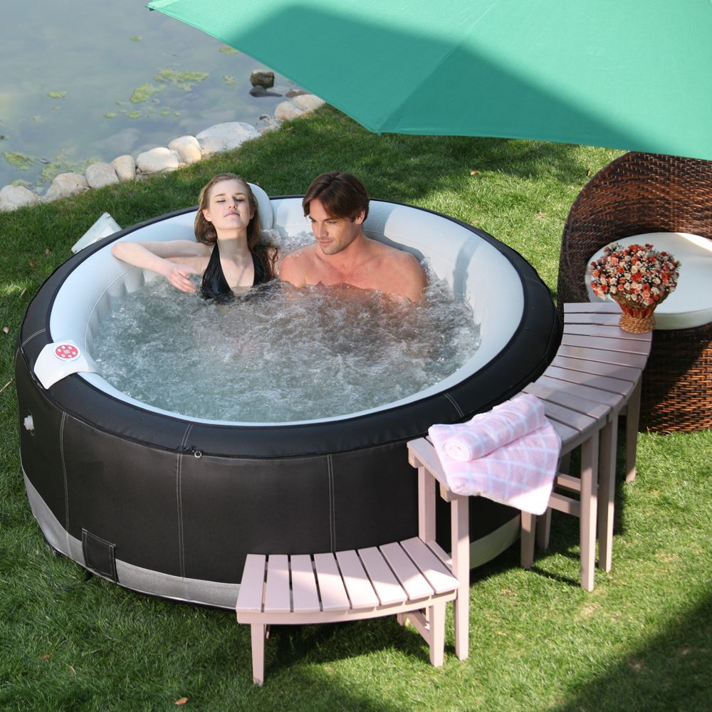comfortable 2 person inflatable hot tub comfortable 2. Black Bedroom Furniture Sets. Home Design Ideas